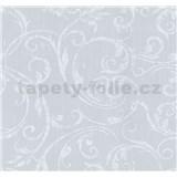 Tapety na zeď Graziosa ornament bílý na šedém podkladu