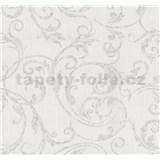 Vliesové tapety na zeď Graziosa ornament hnědý na krémovém podkladu