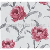 Vliesové tapety na zeď Graziosa květy červené