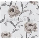 Vliesové tapety na zeď Graziosa květy světle hnědé