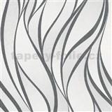Vliesové tapety na zeď IMPOL Hailey vlnovky černobílé