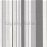 Tapety na zeď Happy Time - pruhy - šedé