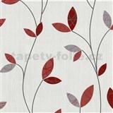 Vliesové tapety na zeď Happy Time - lístky - červené