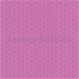 Papírové tapety na zeď Happy Kids 2 - geometrické kytičky růžové