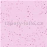 Papírové tapety na zeď Happy Kids 2 - kytičky růžové na růžovém podkladu
