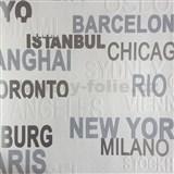 Vliesové tapety na zeď nápisy šedé, bílé