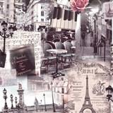 Vliesové tapety na zeď Home Paříž hnědá