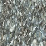 Vliesové tapety na zeď IDEA OF ART 3D skleněné hroty černo-bílé
