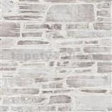 Papírové tapety na zeď Il Decoro kámen hnědý