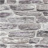Vliesové tapety na zeď Il Decoro kamenná zeď šedá
