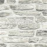 Vliesové tapety na zeď Il Decoro kamenná zeď hnědá