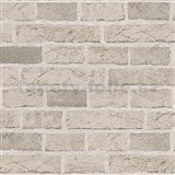 Papírové tapety na zeď Il Decoro cihly světle hnědé