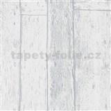 Vliesové tapety na zeď Imagine dřevěnný obklad šedý s výraznou strukturou