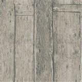 Vliesové tapety na zeď Imagine dřevěnný obklad hnědý s výraznou strukturou