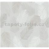 Vliesové tapety na zeď Infinity peří hnědé, bílé, šedé MEGA SLEVA - POSLEDNÍ KUSY