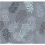 Vliesové tapety na zeď Infinity peří modré, hnědé, šedé