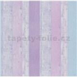 Papírové tapety na zeď It's Me Vintage prkna fialové, růžové, modré