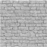 Papírové tapety na zeď It's Me cihla světle šedá