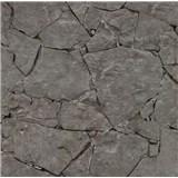 Papírové tapety na zeď It's Me kámen štípaný tmavě šedý
