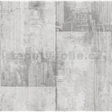 Papírové tapety na zeď It's Me betonové bloky světle šedé