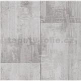Papírové tapety na zeď It's Me betonové bloky světle hnědé