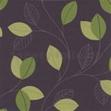 Tapety na ze� Jewel - list� - zelen� - hn�d� podklad