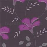 Tapety na zeď Jewel - lilie - fialová - DOPRODEJ
