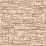 Vinylové tapety na zeď IMPOL obkladový kámen hnědý