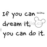 Samolepky na zeď Disney You Can do it rozměr 50 cm x 70 cm