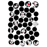 Samolepky na zeď Disney 101 Dalmatinů rozměr 50 cm x 70 cm