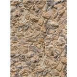 Vliesové fototapety kamenná zeď rozměr 184 cm x 248 cm