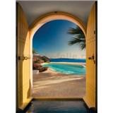 Fototapety Santorin rozměr 254 cm x 184 cm