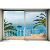 Vliesové fototapety výhled na moře rozměr 368 cm x 248 cm