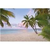 Vliesové fototapety svítání na pláži rozměr 368 cm x 248 cm