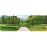 Fototapety Green Lake rozměr 368 cm x 127 cm