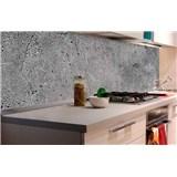 Samolepící tapety za kuchyňskou linku beton šedý rozměr 180 cm x 60 cm