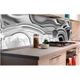 Samolepící tapety za kuchyňskou linku tekuté stříbro rozměr 180 cm x 60 cm