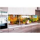 Samolepící tapety za kuchyňskou linku louka rozměr 260 cm x 60 cm