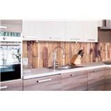 Samolepící tapety za kuchyňskou linku dřevěná prkna rozměr 260 cm x 60 cm