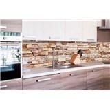 Samolepící tapety za kuchyňskou linku kamenná stěna rozměr 260 cm x 60 cm