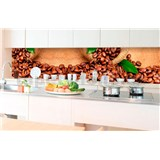 Samolepící tapety za kuchyňskou linku kávová zrnka rozměr 350 cm x 60 cm