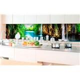Samolepící tapety za kuchyňskou linku vodopády v lese rozměr 350 cm x 60 cm