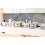 Samolepící tapety za kuchyňskou linku beton šedý rozměr 350 cm x 60 cm