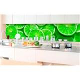Samolepící tapety za kuchyňskou linku limetky rozměr 350 cm x 60 cm