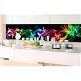 Samolepící tapety za kuchyňskou linku kouř černý rozměr 350 cm x 60 cm