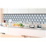 Samolepící tapety za kuchyňskou linku 3D kostky rozměr 350 cm x 60 cm