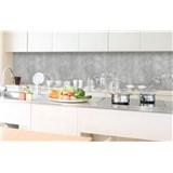Samolepící tapety za kuchyňskou linku beton Concrete II rozměr 350 cm x 60 cm