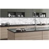 Samolepící tapety za kuchyňskou linku bílý mramor rozměr 350 cm x 60 cm