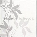 Tapety Lacantara 3 - stonky listů šedé se třpytem