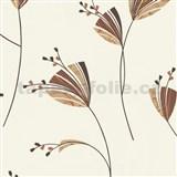 Tapety Lacantara 3 - květy oranžovo-hnědé